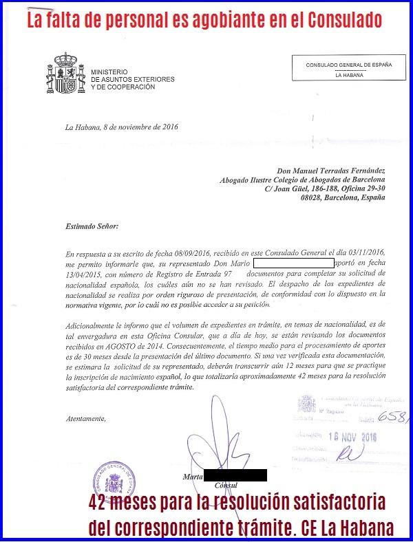 Consulado español de La Habana Ley Nietos y sus familiares: Info ...